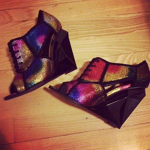 Privileged Glaze multi block heels @wastedchic
