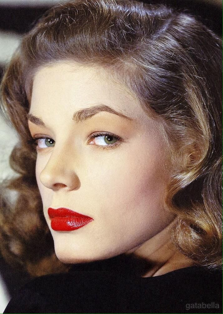 Lauren Bacall - simple, but elegant makeup                                                                                                                                                      More