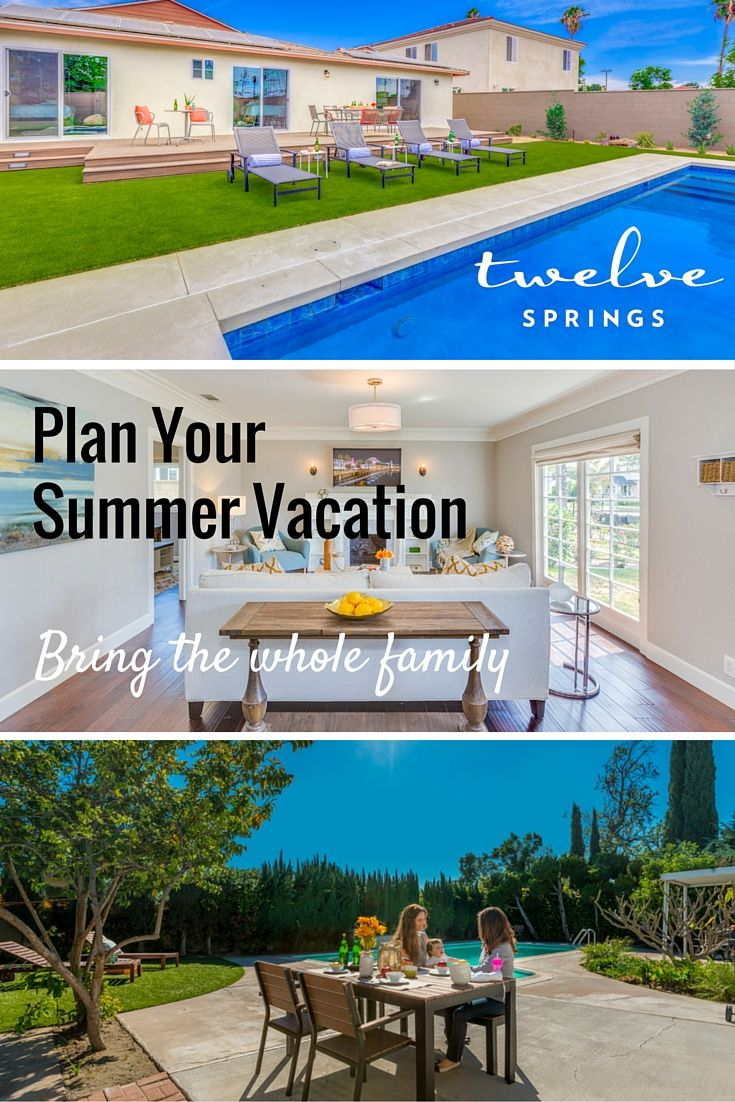 Summer is approaching quickly! Plan your family vacation to Disneyland and stay in a Twelve Springs vacation home in Anaheim. Our homes are designed for families with kids, complete with private pools and game rooms! 3d