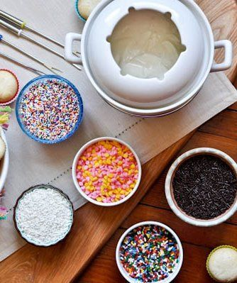 Cupcake Fondue: A fun idea for playdates and slumber parties, make mini cupcakes and supply your friends with ample amounts of frosting and sprinkles. Because you know everything tastes better with sprinkles!