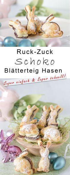#Ostern #easter #Blätterteig #Gebäck #schnell #einfach #Schokolade #Osterhase #Hasen #lecker #yummy #Easter #Frühling