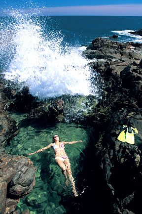 HIdden gems • rock pool Shell Beach Innes National Park Yorke Peninsula South Australia • rock pool Australia