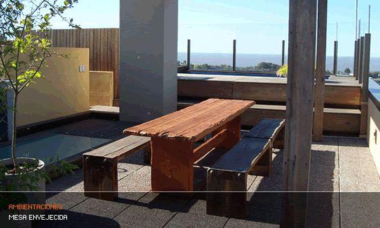 Muebles de madera de quebracho. Muebles rusticos, Mesas y mesadas en madera de quebracho, aberturas, pisos y escaleras en maderas duras. Forestal Quebracho S.A.