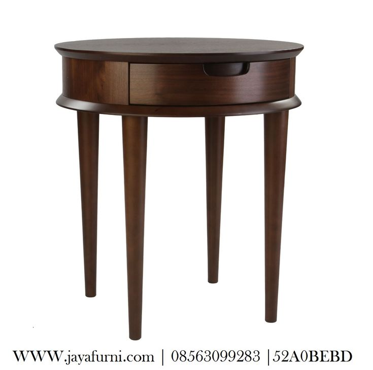 JUAL meja hias minimalis dengan model bundar diameter 50 cm x tinggi 75 cm, produk yang sangat cocok untuk meletakkan telphone rumah, vas bunga, dan juga.