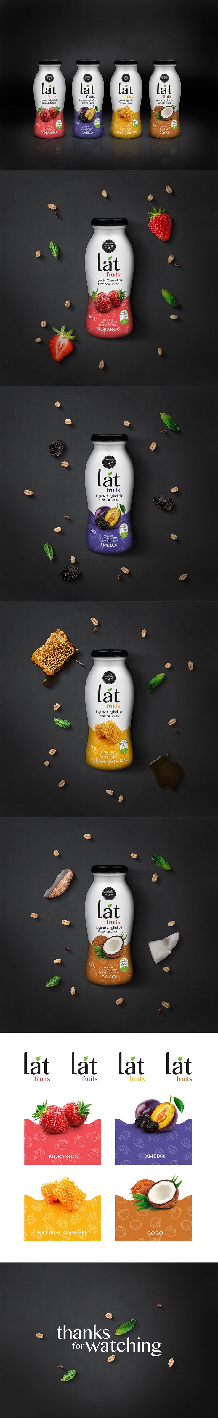 Lat Fruits | Yogurt Package on Behance