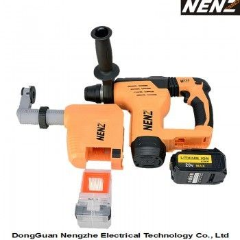 Soft-Grip Handle Electrical Tool with Lithium Battery and Dust Collection for Drilling (NZ80-01) - efull.com