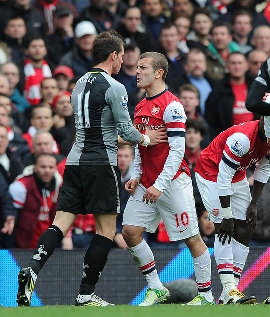 An intense discussion between Jack Wilshere and Gareth Bale (November 2012) by Stuart MacFarlane