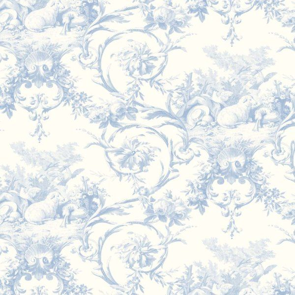 21 Best Toile Wall Paper Images On Pinterest: 30 Best Images About Blue/White Toile Wallpaper On