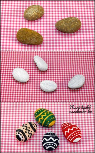Húsvéti tojás kavicsból - Manó kuckó