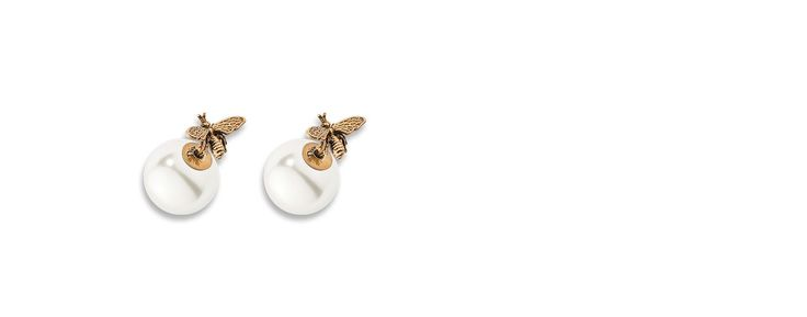 """""""dior tribales"""" earrings in gold-tone finish aged metal - Dior"""