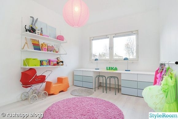 Children's room - Pink, round rug - StyleRoom