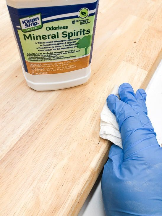Wipe The Surface Of Table Down With Mineral Spirits Before Lying Grey Wood Stain