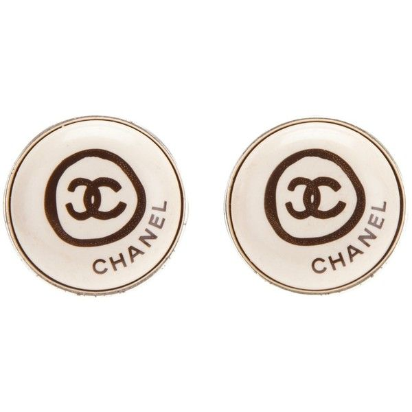 Chanel Vintage Clip On Earrings ($328) ❤ liked on Polyvore featuring jewelry, earrings, accessories, chanel, brincos, vintage clip earrings, vintage jewellery, clip earrings and clip back earrings