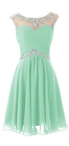 Light Green Homecoming Dresses, Kne
