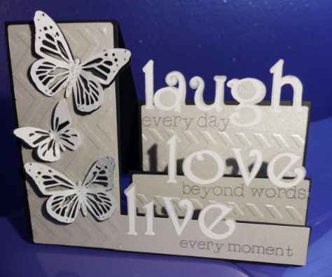 Th anniversary card using spellbinders heart dies and cricut