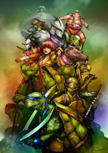 """""""Teenage Mutant Ninja Turtles"""", art by Darren Lim Geers."""