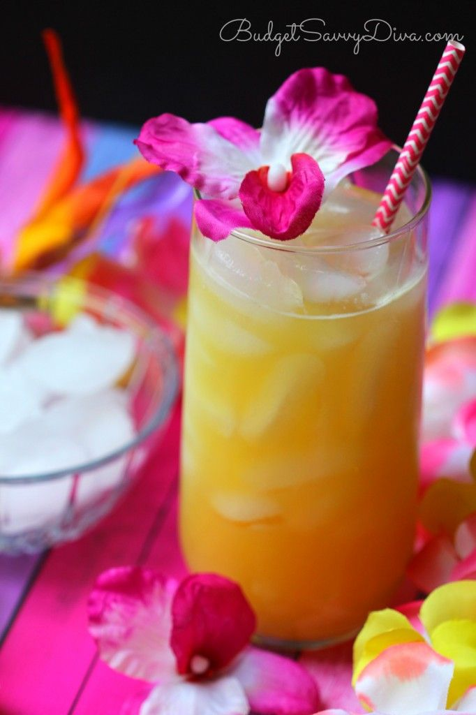 Luau Punch Recipe - add some Pineapple Vodka & Coconut Rum for an adult cocktail