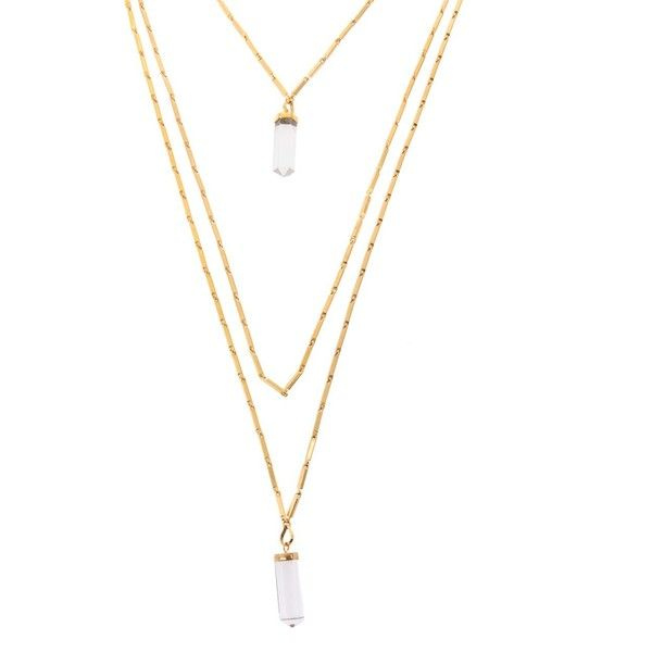 ISABEL MARANT New day necklace (1.860 BRL) ❤ liked on Polyvore featuring jewelry, necklaces, accessories, gold, isabel marant jewelry, isabel marant necklace, graduation jewelry, graduation necklace and graduation pendant