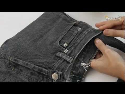 """Ideas para reciclar pantalones """"Bolso"""" - YouTube"""