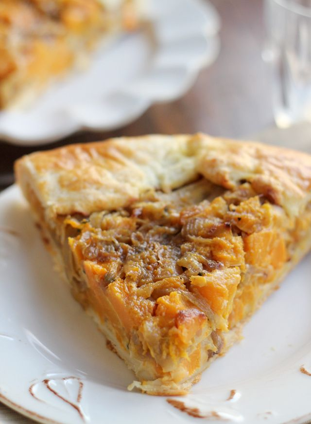 butternut squash and caramelized onion galette from Eats Well With ...