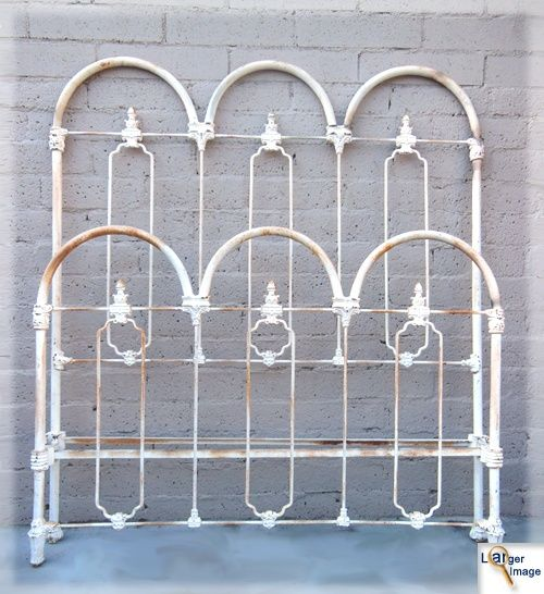Vintage Wrought Iron Bed Frame Wrought Iron Beds Pinterest