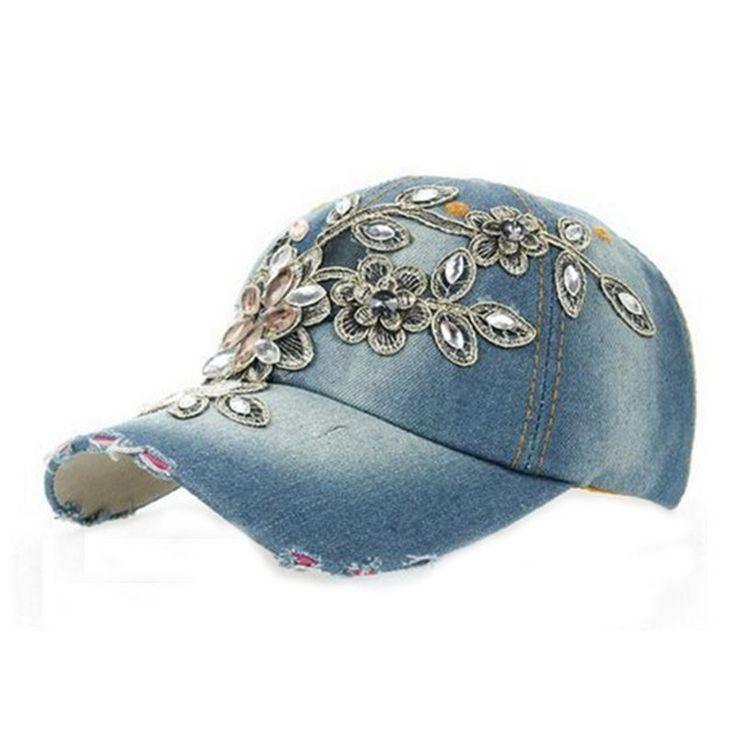 Flower Design Baseball Cap Outdoor Sports Golf Leisure Hats Lady's Accessories Women's Caps