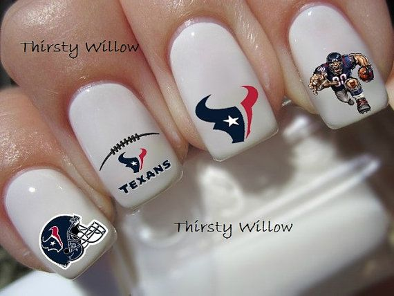Houston Texans Nail Decals by ThirstyWillow on Etsy, $2.75