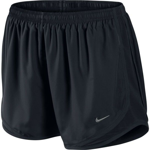 Amazon.com: Nike Lady Tempo Running Shorts - Medium - Black: Clothing ($29) ❤ liked on Polyvore featuring activewear, activewear shorts, nike, nike activewear and nike sportswear