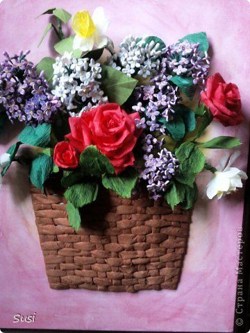 Paper quilling rose flower basket akbaeenw paper quilling rose flower basket how to make paper quilling flowers mightylinksfo