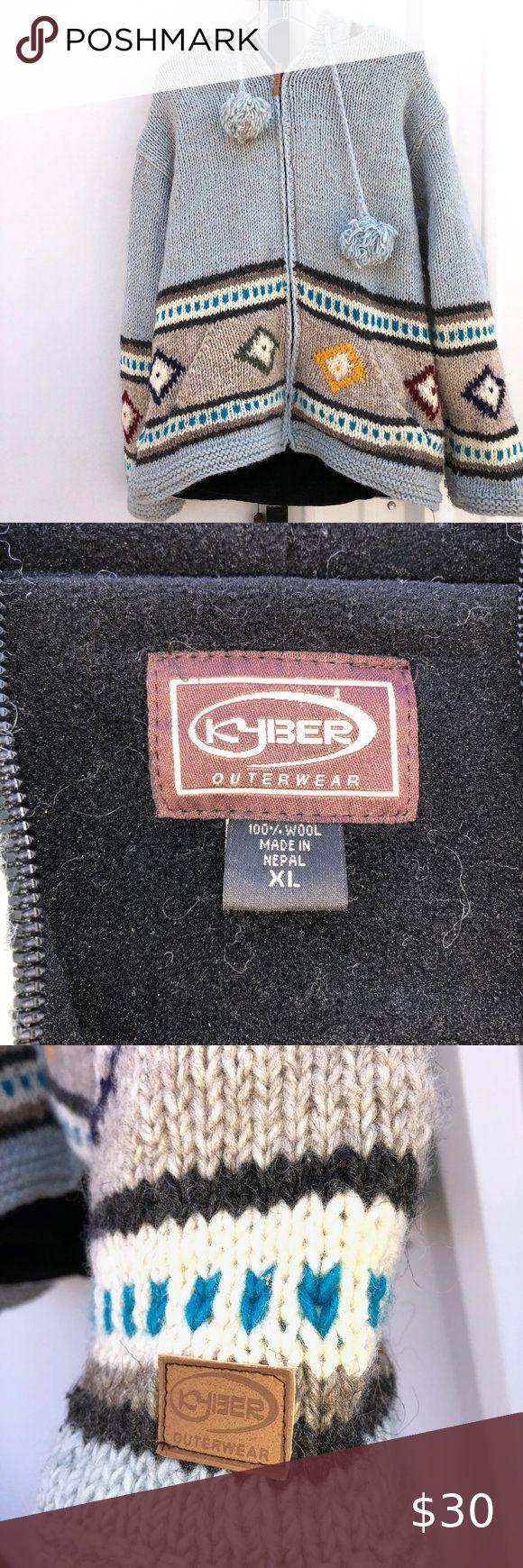 Kyber Outerwear Wool Hooded Sweater Jacket Sweater Jacket Hooded Sweater Sweaters [ 1740 x 580 Pixel ]
