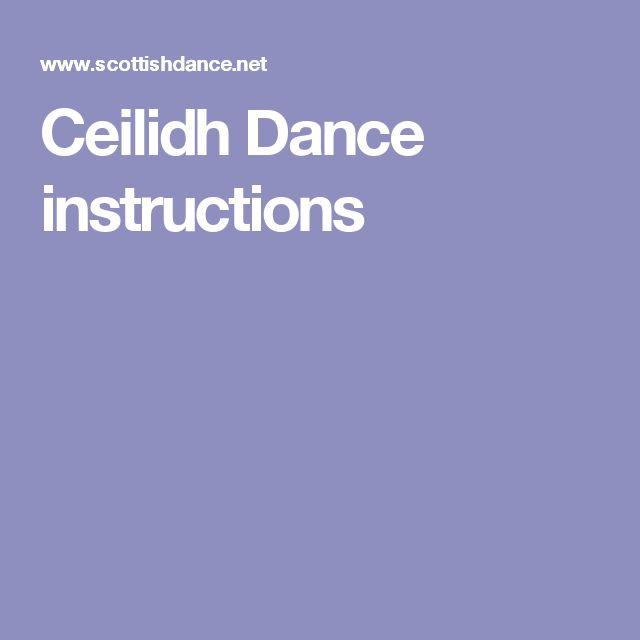 Ceilidh Dance instructions