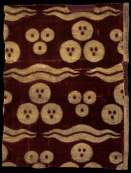 Bursa (city), Turkey (probably, made)    Date:  ca. 1450-1550 (made)    Artist/Maker:  Unknown (production)    Materials and Techniques:  Silk velvet and gold-wrapped thread
