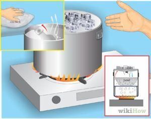 Como transformar el agua de grifo en agua destilada?