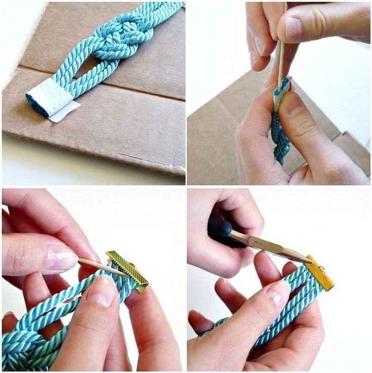 How to make a rope bracelet. Diy Rope Bracelets - Step 3