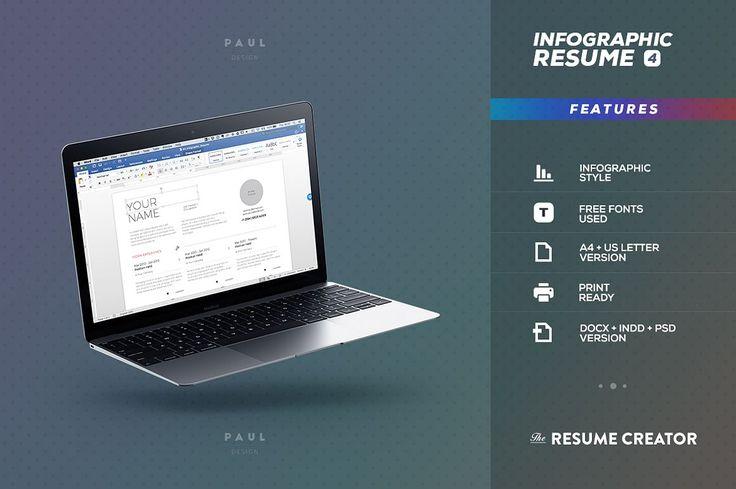Infographic Resume   Cv Vol 8 Resume cv, Infographic resume and - infographic resume creator