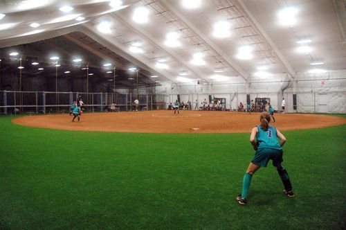 Goal create a huge indoor softball field facility for Design indoor baseball facility