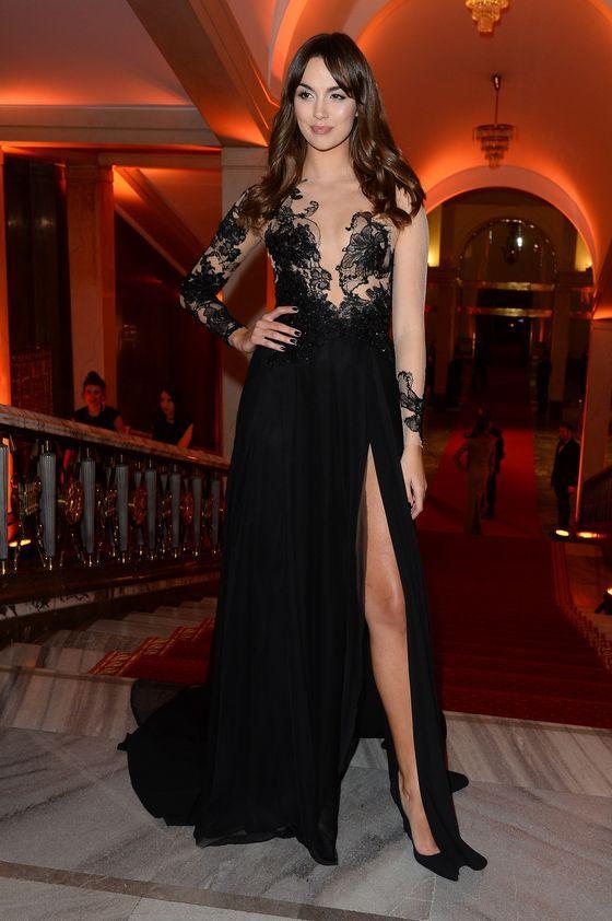 Black dress designed by Paprocki&Brzozowski