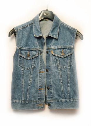 jeansowa kamizelka LEVIS levi's dżinsowa katana vintage oldschool