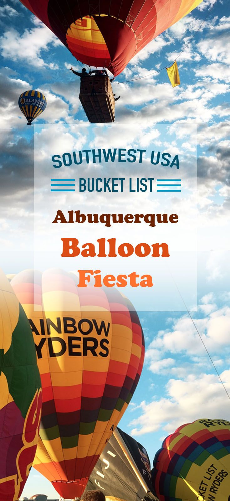 Albuquerque New Mexico is famous for its annual hot air balloon festival, one of the largest in the USA.
