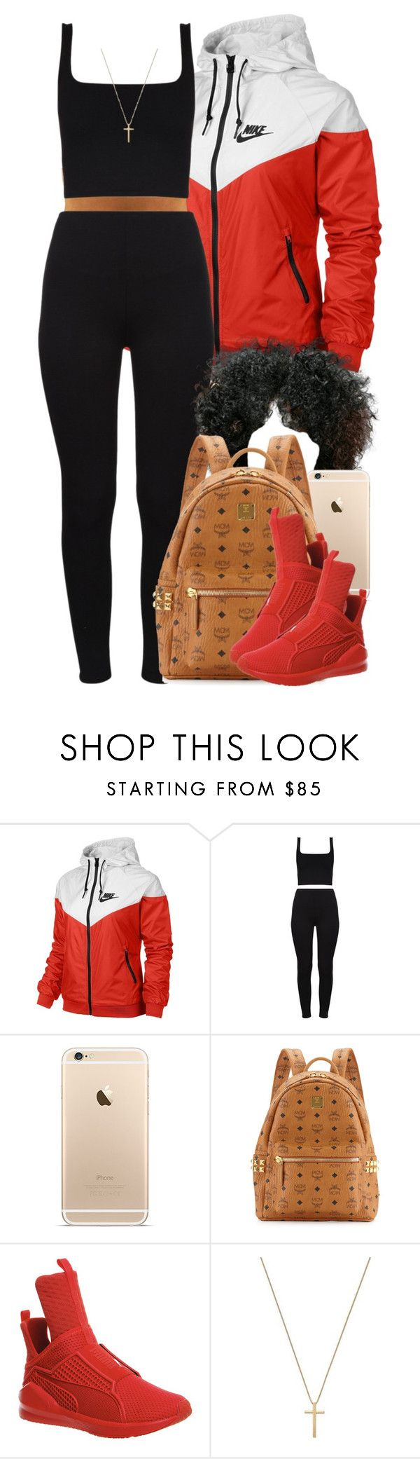 """""""When it's hot but windy. """" by livelifefreelyy ❤ liked on Polyvore featuring NIKE, MCM, Puma and Gucci"""