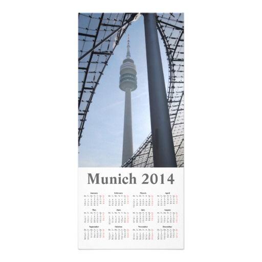munich angel 2014 calendar Rack Card