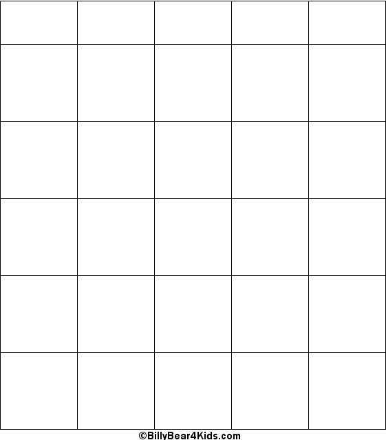 Blank Bingo Card | Printables | Pinterest