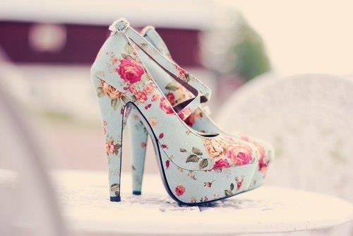 \\: Fashion, Style, Highheel, Clothes, Floral Heels, High Heels, Flower, Shoes Shoes