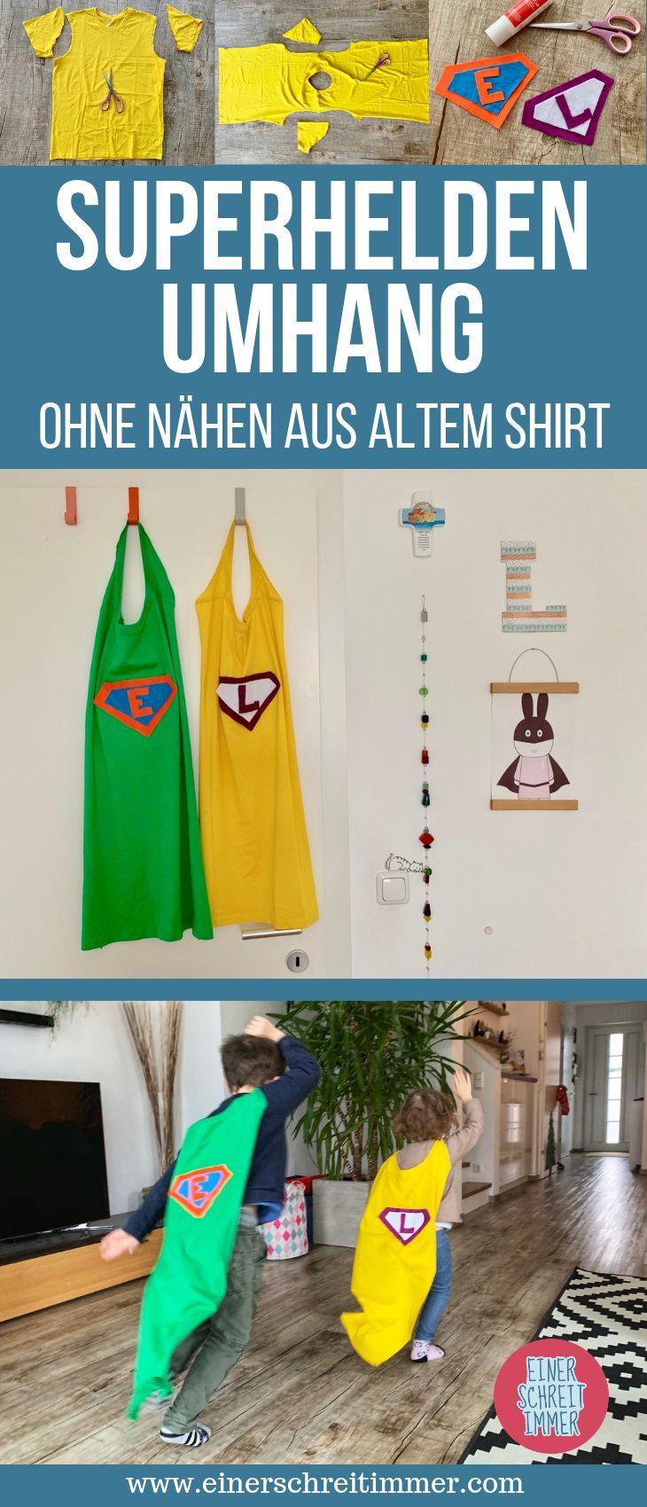 Upcycling: Superheldenumhang in 5 Minuten   – Bücher