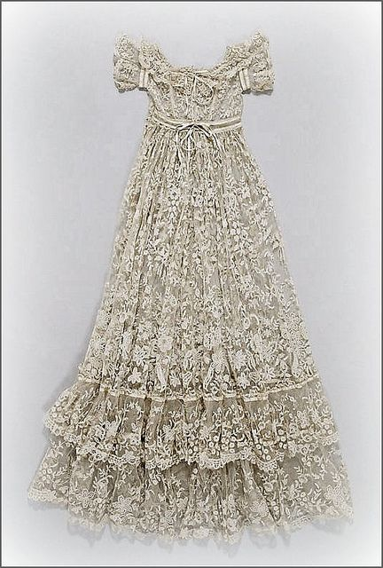 French lace christening robe , ca. 1860-80 ... photo courtesy the Metropolitian Museum of Art costume collection
