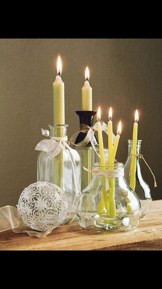 Decoraci n con velas y cristales mi casa pinterest - Decoracion con velas ...