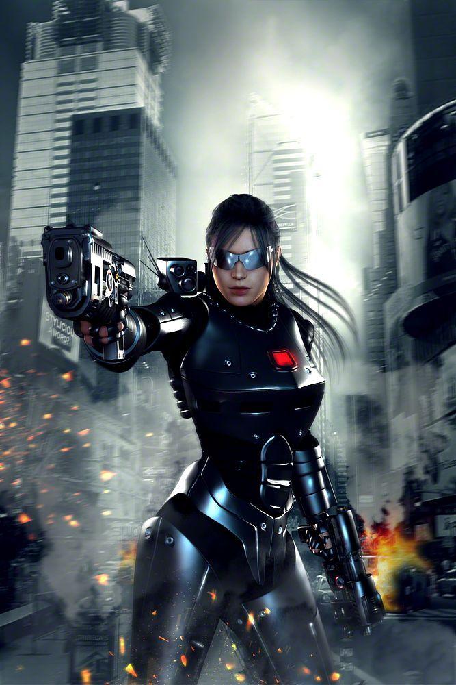 Robocop Female Black Steel By Iam Uman Cyberpunk Girl