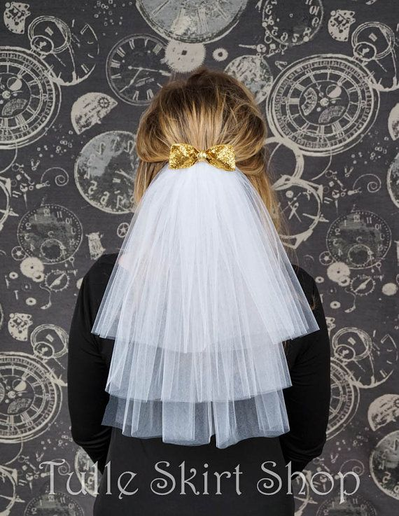 Bachelorette Party Veil Hen Party Veil Bridal Shower Veil