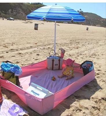O Lado de Cá: Conforto para o bebe na praia
