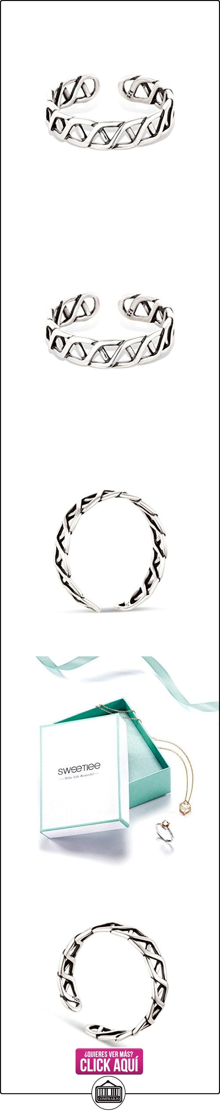SWEETIEE Cuff anillo trenzado de 925 plata de esterlina con el diseno Vintage, plata,17mm  ✿ Joyas para mujer - Las mejores ofertas ✿ ▬► Ver oferta: https://comprar.io/goto/B014SLL0ZA